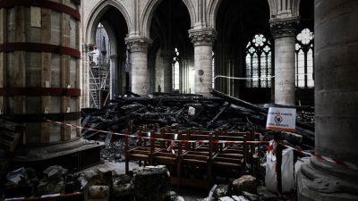 Erste Messe in Pariser Kathedrale Notre-Dame seit dem Brand