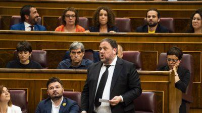 Katalanen-Politiker Junqueras sitzt im Gefängnis und kann Mandat im Europaparlament nicht antreten