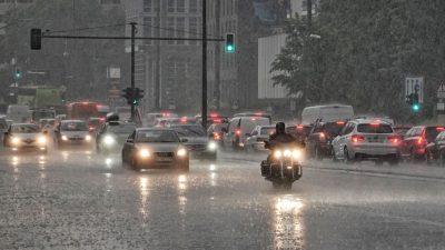 Unwetterwarnung: Gewitter, Hagel und Starkregen im Osten und Norden