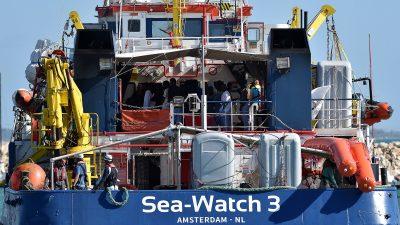 """43 Flüchtlinge sitzen weiter auf berüchtigter """"Sea Watch 3"""" vor Lampedusa fest"""