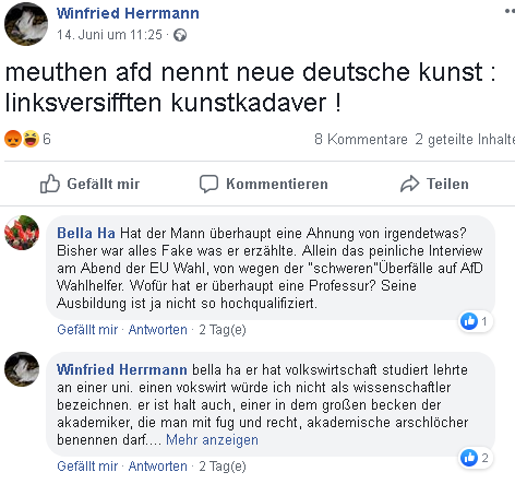 Falschmeldung des Deutschen Bühnenvereins über Meuthen