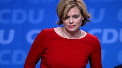 """Klöckner: """"Keine leichten Stunden für Frau Nahles"""" – Union will Große Koalition fortführen"""