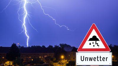 """Warnkarte für """"Frank"""": Es drohen schwere Gewitter mit Sturmböen, Starkregen und Hagel, Tornados möglich"""