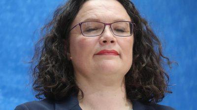 Andrea Nahles tritt vom SPD-Partei- und Fraktionsvorsitz zurück