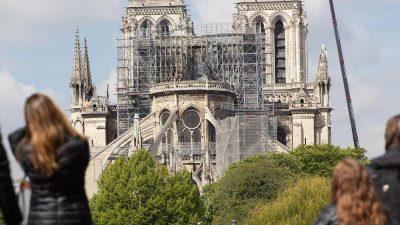 Nach Brand: Notre-Dame bleibt noch für Jahre geschlossen