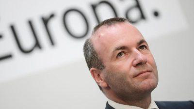 """EU-Parlament – Weber: """"Es gab mächtige Kräfte, die das Wahlergebnis nicht akzeptieren wollten"""""""