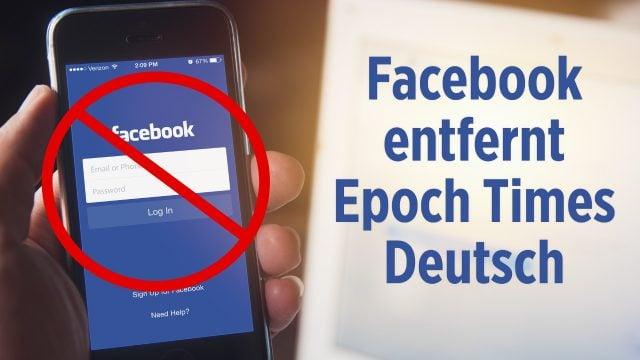 Nicht mehr erreichbar: Epoch Times Deutsch von Facebook entfernt