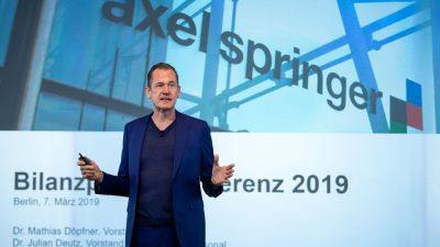 Angebot aus den USA: Finanzinvestor KKP will 20 Prozent des Verlages Axel Springer übernehmen