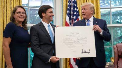 Pentagon: Verteidigungsminister gibt 3,6 Milliarden Dollar für Bau der Mauer frei