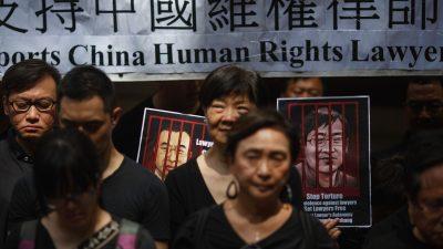 USA und EU fordern China auf, Menschenrechtsanwälte zum Jahrestag der Massenverhaftungen freizulassen