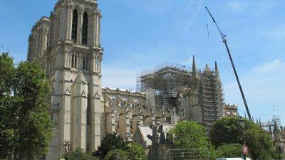 Notre-Dame drei Monate nach dem Brand
