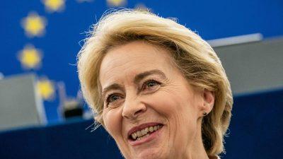 EU-Wunschliste an von der Leyen: 100-Milliarden-Fonds, Strafzölle gegen USA und Internetzensur