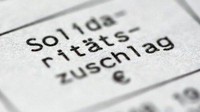 Scholz legt Gesetz für Soliabbau vor