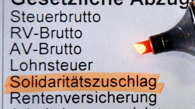 """""""Soli wird fallen, und zwar ganz"""": Rechnungshof-Präsident hält Teillösung für verfassungswidrig"""