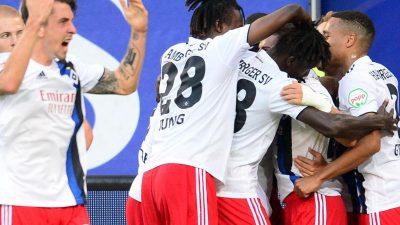 HSV nach Sieg gegen Bochum vorerst an der Tabellenspitze