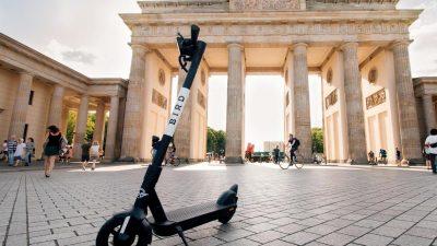 E-Roller-Verleiher Bird startet in Deutschland: Berlin, Hamburg, Köln, Frankfurt und München