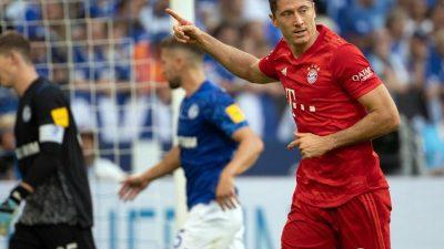 Lewandowski führt Bayern mit Dreierpack auf Schalke zum Sieg