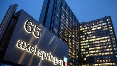 Springer-Chef Döpfner kündigt wegen Umsatzrückgang Sparkurs und Arbeitsplatzabbau an