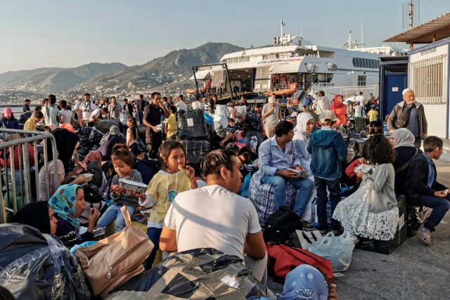 Lesbos Flüchtlingslager