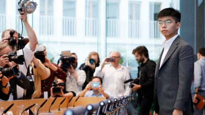 Demokratie-Aktivist Joshua Wong berichtet über Lage in Hongkong