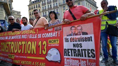 Franzosen gegen Rentenreform: Rentenalter bleibt vermutlich bei 62 Jahren, doch sie sollen länger einzahlen