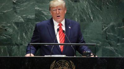 """Trump warnt bei UNO: """"Gespenst des Sozialismus"""" ist eine ernsthafte Bedrohung für die Welt"""