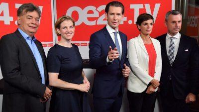 WAHLTICKER Nationalratswahl Österreich: ÖVP, Grüne und NEOS sind die großen Gewinner der Wahl