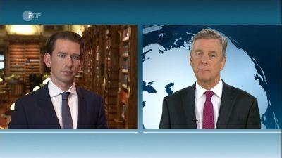 """Kurz lässt Claus Kleber auflaufen: """"Bin Österreichs Wählern verpflichtet und nicht dem Ausland"""""""