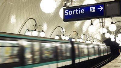 """""""Durchgedrehte"""" Pariser Metro schockt Passagiere"""