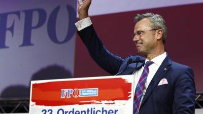 Norbert Hofer (FPÖ) mit 98 Prozent als Parteichef gewählt – Doppelspitze mit Herbert Kickl