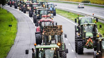 """""""Keine Bauern, keine Nahrung"""" – 2.000 niederländische Bauern legen Straßen lahm"""