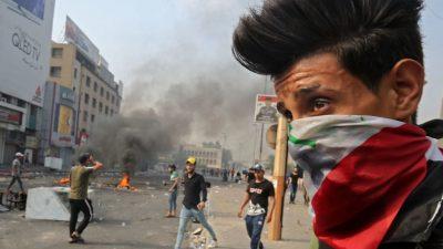 Brutale Polizeieinsätze bei Protesten im Irak: 1.000 Verletzte und 26 Tote
