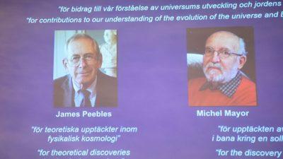 Physik-Nobelpreis geht an Kanadische Kosmologen und zwei Schweizer Entdecker von Exo-Planet