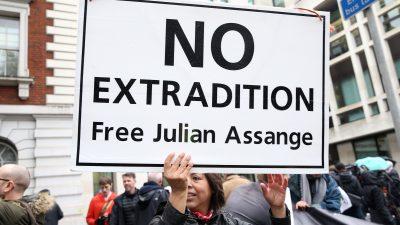 Julian Assange bei Anhörung vor Londoner Gericht sichtlich mitgenommen