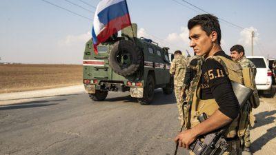 Erstmals türkisch-russische Grenzpatrouillen in Nordsyrien