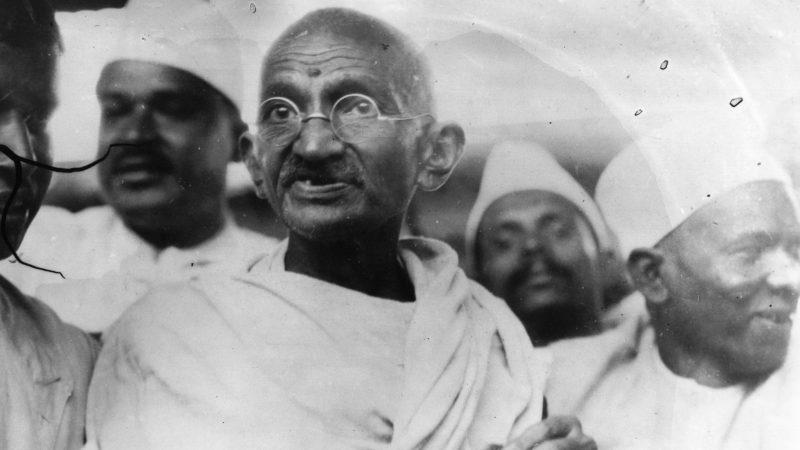 Der Erste Echte Inder Wie Mahatma Gandhi Mit Seinem Gewand