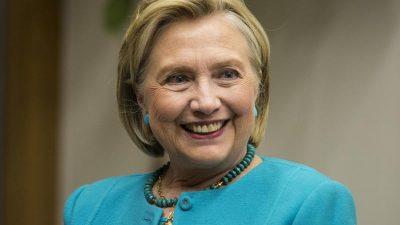 """Hillary Clinton: Kandidatur für das Präsidentenamt im Moment """"absolut nicht"""" Teil ihrer Pläne"""
