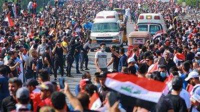 21 Tote und über 1700 Verletzte bei neuen Protesten im Irak