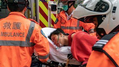 Junger Hongkonger stirbt bei vermeintlichem Sturz – Protesttag führt zu 64 Verletzten