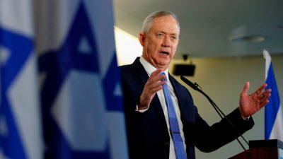 Israel: Netanjahu-Rivale Gantz wirbt für breites Regierungsbündnis unter seiner Führung