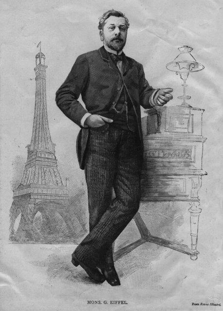 Alexandre Gustave Eiffel (1832 - 1923) und sein berühmtestes Projekt: Der Eiffelturm.