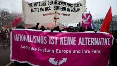 Antifa-Demo: Tausende demonstrieren gegen AfD-Parteitag in Braunschweig