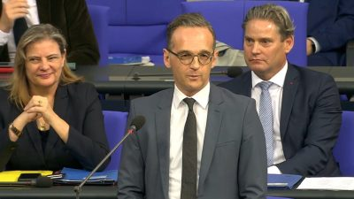 Maas kontert AfD-Mann im Bundestag – und sorgt für Lacher
