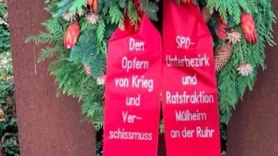 """Böser Scherz oder Schreiben nach Gehör? SPD Mülheim ehrt die Opfer des """"Verschissmuss"""""""