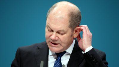 Olaf Scholz will trotz Niederlage Finanzminister bleiben