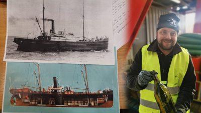 Taucher bergen hunderte Flaschen Cognac und Likör aus 1917 gesunkenem Schiff