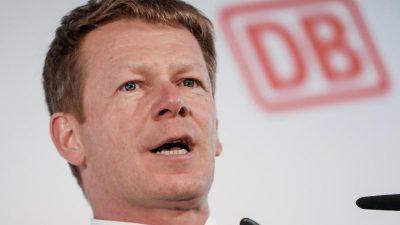 Bahn-Chef: Verluste so hoch wie nie in der Geschichte der DB
