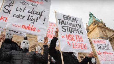 Gekaufte Umwelt-Aktivisten: Auf Leipziger Klima-Demo erhielten Statisten Geld