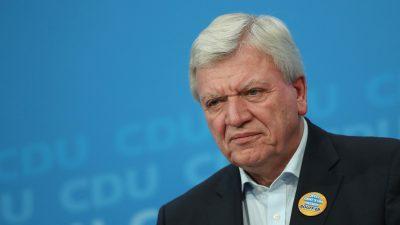 Bouffier stellt Laschet und Söder Ultimatum zur K-Frage von einer Woche