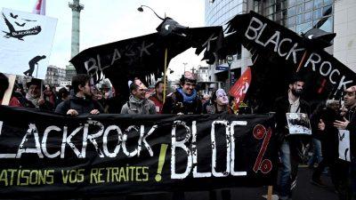 Gewinner der Rentenreform: US-Vermögensverwalter Blackrock beriet französische Regierung